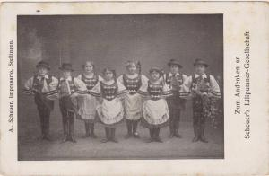 Zum Andenken an Scheuer's Liliputaner-Gesellschaft, Stellingen, Germany 1917