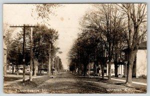 Watkins NY~Railroad Bridge? @ End of Dirt Porter St~Edge of School?* c1910 RPPC
