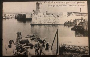 Mint USA Invasion Of Mexico RPPC Picture Postcard San Juan Ulloa Political Priso