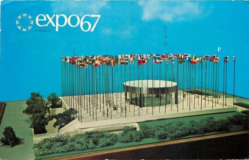Montreal Canada~World's Fair~Expo 67~United Nations Pavilion~Model~1967 PC