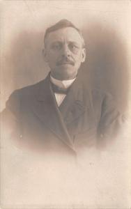Toledo OH Gentleman w/Receding Hairline~Bowtie~Moustache~Higginbothom RPPC 1910
