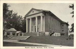 Hertford NC Baptist Church Postcard