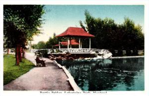 6881  Montreal Lafontaine Park, rustic bridge