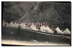 Old Postcard Militaria Alpine A hunters camp