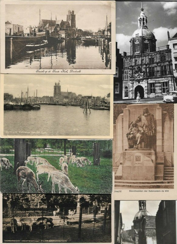 Netherlands Dordrecht Postcard Lot of 25 With Some RPPC 01.05