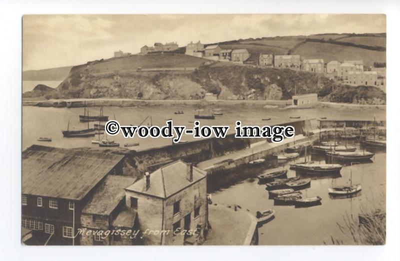 tq1397 - View of Ships across the Harbour of Mevagissey from the East - postcard