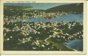 Boothbay Harbor, Maine, Aerial View
