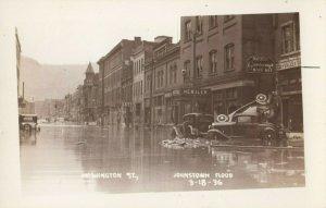 RP: JOHNSTOWN , Pennsylvania , 1936 ; Washington Street , flood