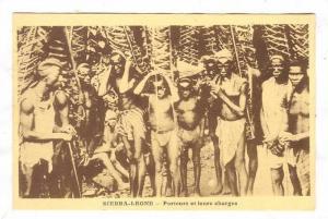 SIERRA-LEONE - Porteurs et leurs charges, 00-10s