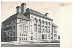 York PA High School Vintage 1906 UDB Postcard Doane