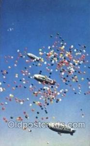 Goodyear Aerial Ambassadors, Akron, Ohio, USA Zeppelin, Zeppelins Postcard Po...