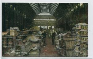Covent Garden Market London UK 1910c postcard