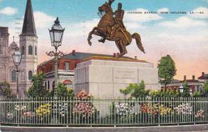 Louisiana New Orleans Jackson Statue 1946