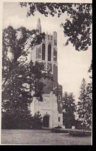 Michigan East Lansing Memorial Tower  Michigan State College Albertype