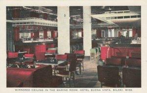 BILOXI , Mississippi, 40-50s ; Mirrored Ceiling, Marine Room, Hotel Buena Vista
