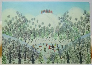 A Winter Place Illustration Hallmark Vintage Postcard