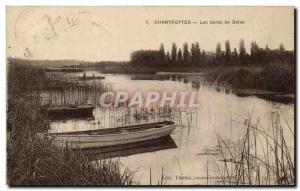 Old Postcard Chartrettes the Seine River Boat