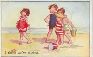 POOLE , Dorset England , 1910s-20s ; Beach Kids, Pop-out views