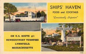 Lynnfield Massachusetts Ships' Haven food cocktails linen antique pc ZA440537
