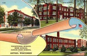 Wisconsin Antigo Vocational School High School & Junior High School Curteich