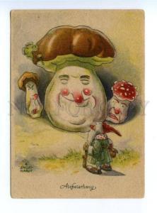 164098 MUSHROOM Amanita GNOME Dwarf by ENGELHARDT vintage PC