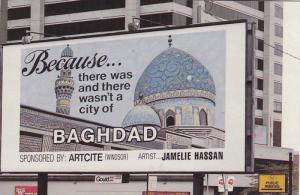 Billboard Sign: Baghdad theme , London , Ontario , Canada , 1992