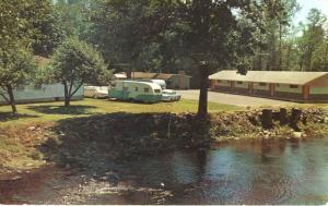 Monroe Motel Monroe WA Motels Western Motor Assoc. WMA ATA Trailer Postcard D1