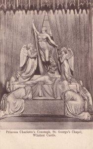 Princess Charlottes Cenotaph Windsor Castle Old Postcard