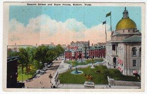 Boston, Mass, Beacon Street and State House