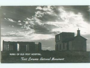 old rppc NICE VIEW Fort Laramie Wyoming WY i6420