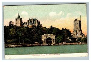 Vintage View of Hart Island, Among the Thousand Islands NY c1910 Postcard K8