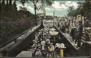 Maidenhead Berkshire UK Boulters Lock c1910 Postcard