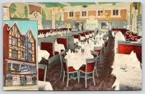New York City~Zucca's Restaurant @ Rockefeller Center~Exterior & Dining Room~40s