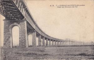 CUBZAC LES PONTS, Gironde, France, 1900-1910´s; Pont Du Chemin De Fer