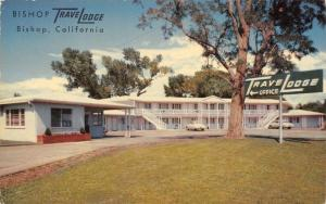 Bishop California~TraveLodge on US 395~Early 1950s Cars~Air-Conditioned~Postcard