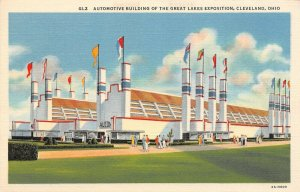 LP43  Cleveland Ohio Postcard Great Lakes Exposition  Automotive Building