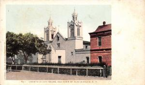 Albuquerque New Mexico~Old Town~Church of San Felipe~1902 Detroit Pub Postcard