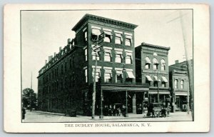 Salamanca New York~Dudley House Hotel~Krieger's Store~Horse Delivery Wagon~c1910