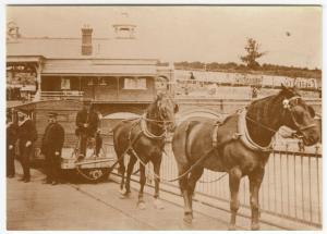 Horse Drawn Tram On Southend Pier, 1886 Repro PPC, Unused, Southend Pier Museum