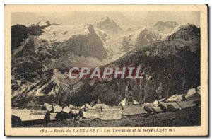 Old Postcard Lautaret Road Terraces and Meye