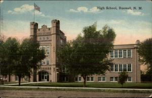 Roswell NM High School c1910 Postcard