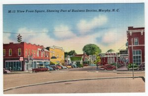 Murphy, N.C., View From Square, Showing Part of Business Section