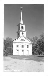 Francestown New Hampshire~11:55 AM on Town Meetinghouse Clocktower RPPC c1950