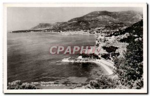 Old Postcard Menton General view taken Grimaldi