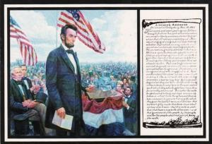 Abraham Lincoln Gettysburg Address by Mort Kuenstler