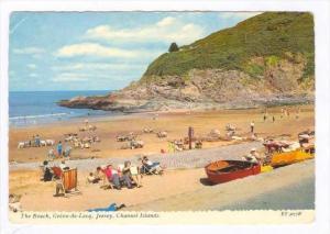 The Beach, Greve-de-Lecq, Jersey, Channel Islands, PU-1973
