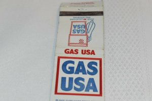 Gas USA Advertising 20 Strike Matchbook Cover