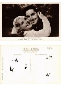 CPA Tyrone Power and Sonja Henie in Lovely to look at FILM STAR (398968)