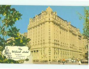 Unused Pre-1980 THE WILLARD HOTEL Washington DC hr5978