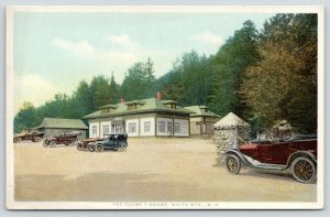 White Mountains New Hampshire~Flume T House~Vintage Cars~c1910 Detroit Pub Co